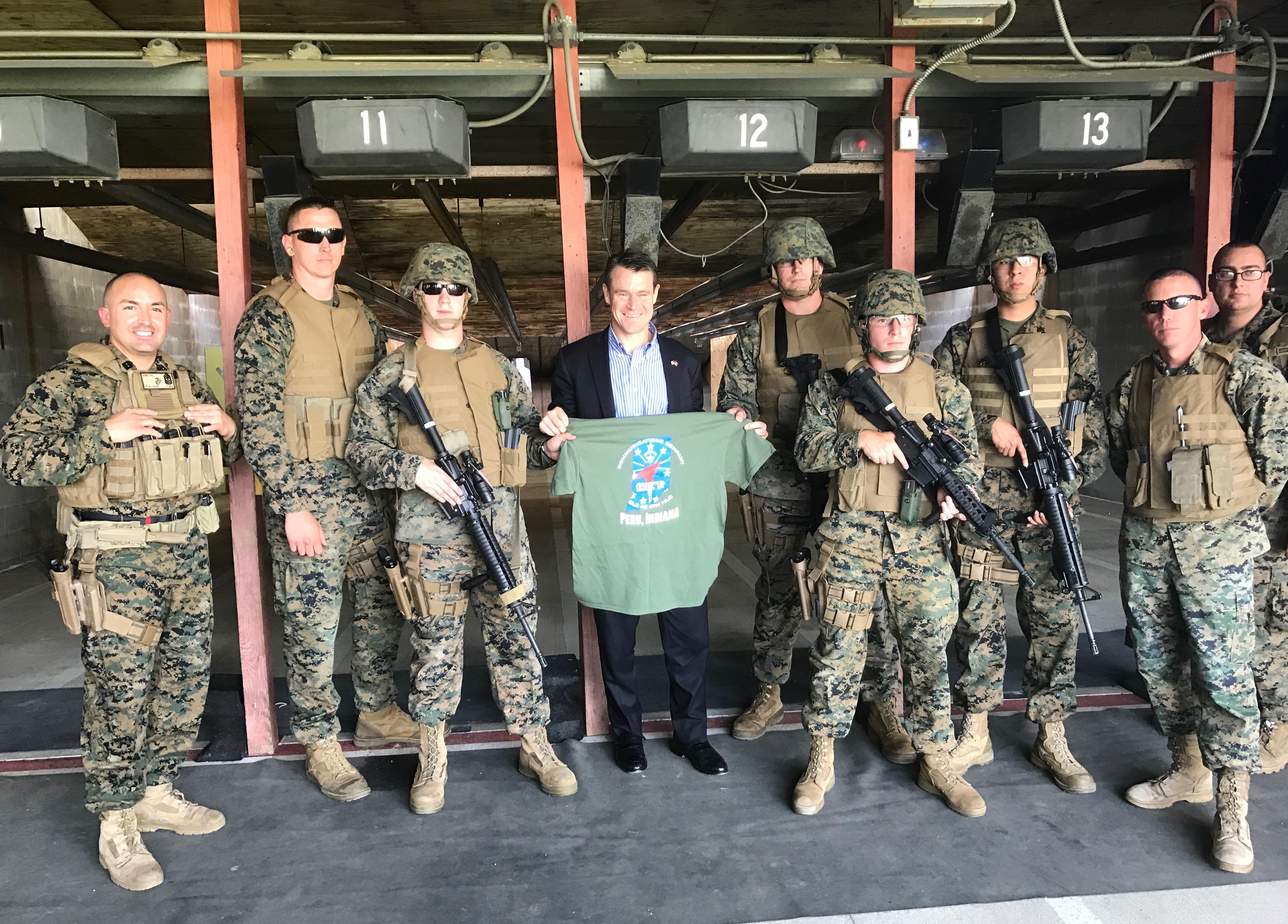 Young Visits Key Indiana Military Bases 4