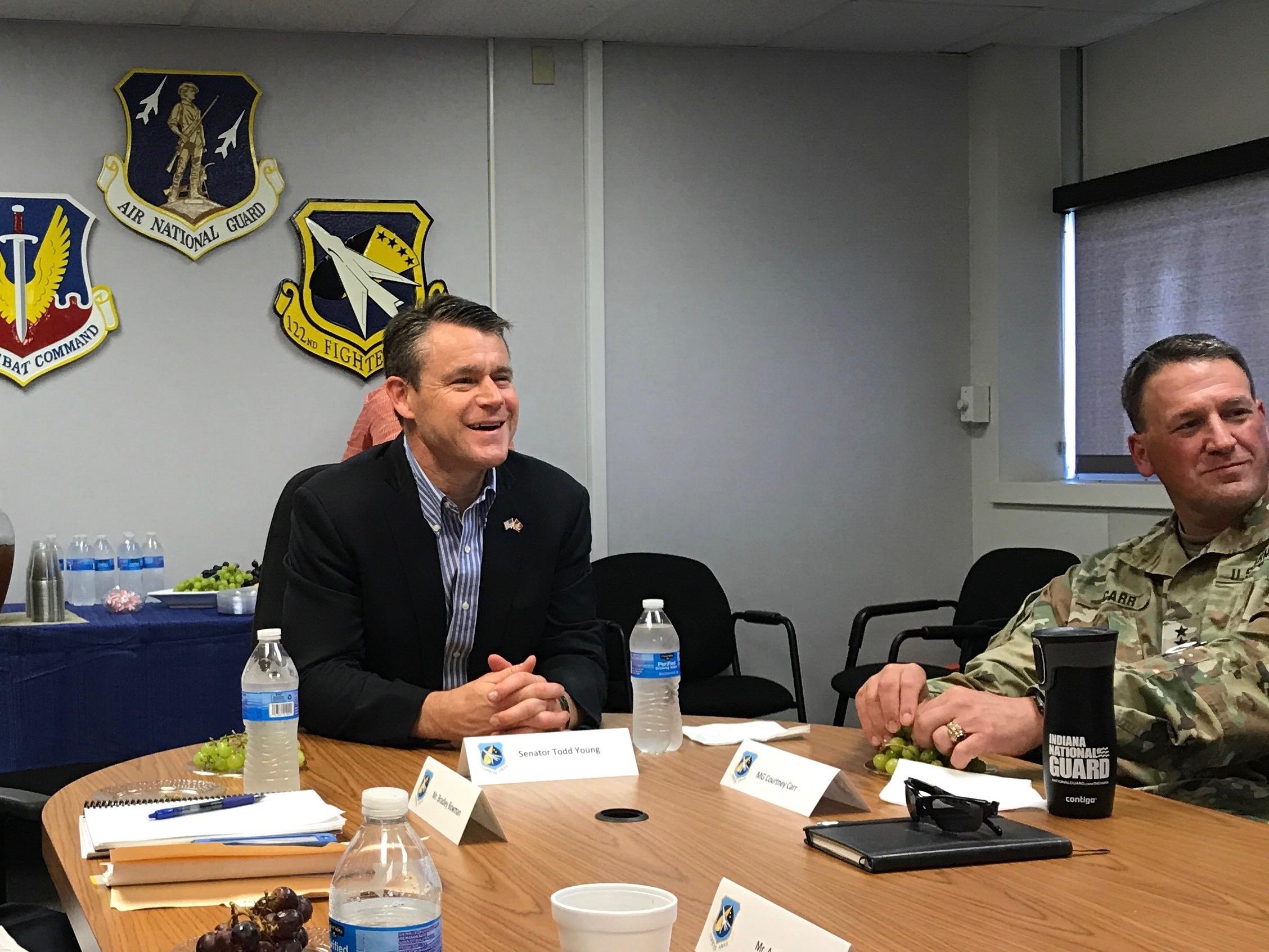 Young Visits Key Indiana Military Bases6