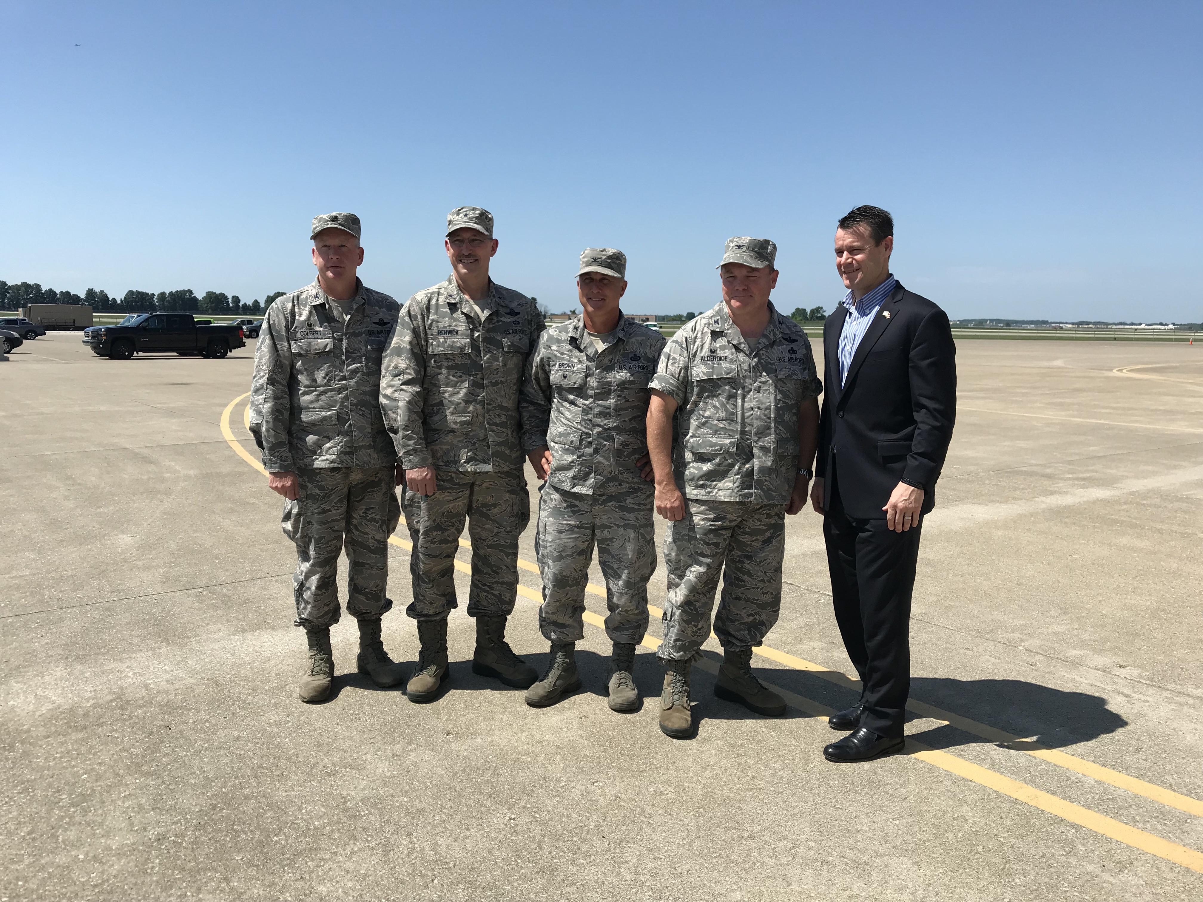 Young Visits Key Indiana Military Bases 3
