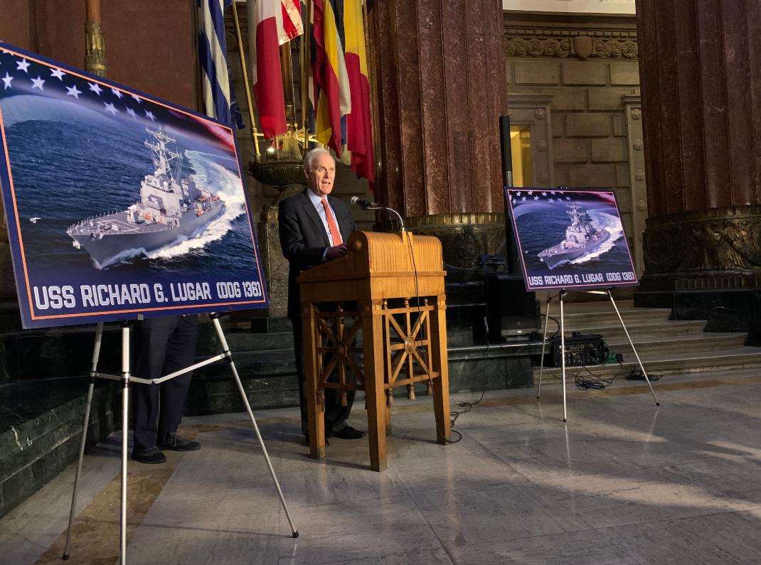 USS Lugar Naming Ceremony 2