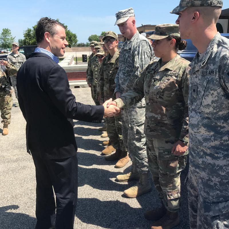 Young Visits Key Indiana Military Bases 2